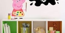 Peppa Pig Bedroom / Peppa, George and Family room inspiration!