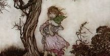 Fairies & the Enchanted Forest / Walking through the forest. Collecting leaves & petals to fashion a dress...