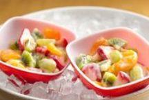 Poletne solate / Lahki sadni in zelenjavni poletni solatni krožniki