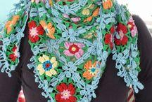 Crochet & Knitt  shawl,poncho