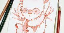 Inktober2016 / inktober 2016 drawings by anja sturm