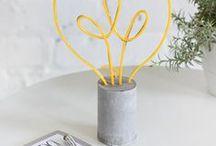 DIY Ideen Beton / Interior Blog mit vielen tollen DIY Ideen: www.homemadebypatricia.de