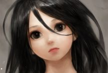 Girl @ Anime (Hair:Black)