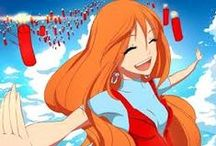 Girl @ Anime (Hair:Orange)