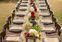 décorations de table/centres de table...