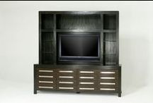 Entertainment Centers / The best furniture begins with the best lumber. Entertainment centers are available in Western Alder, American Black Walnut, African Mahogany and oak from contemporary to traditional styles.