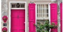 Pink for interiors / Creative ideas on using hot pink right through to palest blush pink colours in your home's interior