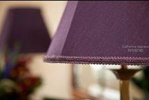 Purple / violet for interiors / Inspiration for purple interior design schemes and colour palettes. Deep royal purple through jewel tones to gentle mauve colours for your home's interior decor