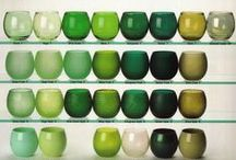 Green for interiors / Creative inspiration and ideas for using green shades and colours for your home's interior decor and design.  Green is the colour of spring and happiness and is incredibly calm and restful in your home.
