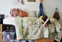 Dorm Room Design / The perfect place to study, kick back, and catch some zzz's. Make your dorm room the envy of campus.