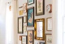 Art + Gallery Walls / Deck your walls just like a gallery.
