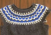 Icelandic vest / A visit to Iceland sparked an interest in Nordic knitting.