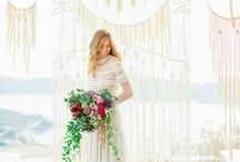 Wedding styled shoot on Ios island / My macrame pieces in the wedding styled shoot organised by Ios club, designed by wedding planner The 12 Events and shot by destination wedding photographer Anna Roussos. Featured on Ruffled blog