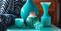 Teal and turquoise for interiors / Zingy teal and turquoise inspiration for your home's interior. The colour of the Caribbean sea, and off the west coast of Scotland too!