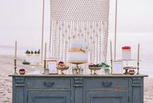 Wedding styled shoot in L.A. / My macrame pieces in the wedding styled shoot organised and designed by wedding planner Think Happy Events and shot by wedding photographers George Pahountis, Theodoros Chliapas and Kostis Mouselimis