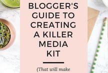 Media Kit Designs / Inspiration for putting together a media kit