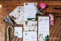 Stationery for your inspiration / A range of wedding stationery pinned for your inspiration! :)