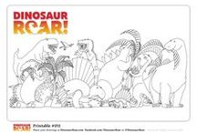 Dinosaur Roar! Colouring Pages / Free downloadable Dinosaur Roar! colouring pages for your kids to colour in! Great dinosaur craft activity for kids. Create your own dinosaur art and then send it into the kid's dinosaur galleries on DinosaurRoar.com or Facebook.com/DinosaurRoar or tweet them to @DinosaurRoar using the hashtag #DinosaurRoar.  Have fun, ROAR!!