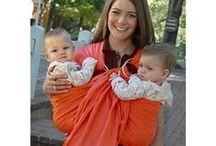 Wearing twin babies / Ikerbabák hordozása / Ikerbabák tandemhordozása