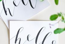 caligraphy & typography.