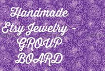 Handmade Etsy Jewelry - Group Board / THIS IS THE PLACE TO PROMOTE YOUR SHOPS! Pin all your beautiful Etsy jewelry pieces here to your heart's content! No daily limit. Invite others to join the party! To be invited, follow me, then send me a message or comment on one of the Chronic Hope Jewelry posts! Please re-pin other's posts to your own boards to help our fellow Etsy sellers get some sales. Good luck!