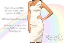 Drape and Dazzle Competition!! / Chances to win! Folllow us on Twitter @DrapeandDazzle or Visit our Facebook & Like our page! www.facebook.com/pages/Drape-Dazzle/482879565066050