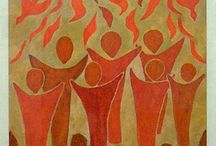 """Sacraments of Initatiation - Confirmation / Pins where you can learn about the sacrament of Confirmation, lesson plans, and ideas for celebrating.  You may also want to have a look under the """"Pentecost"""" pin for some additional ideas. / by Christine Way Skinner"""