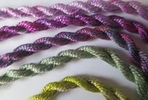 Sassa Lynne / Threads and more - hand-dyed by me!   Yarn, fabric, fibres, fibers, threads, paper,