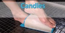 Candles / Tempt your sense of smell while you pamper your feet.