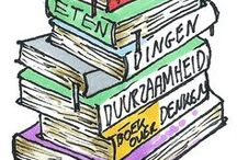 Lauriekoek boeiende boeken / Boeken over de achtergrond van eten. Of over leven zonder afval, of dieren of duurzaamheid.