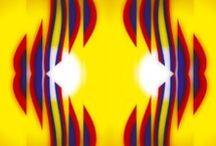 Arte Abstracto X Colombia / Me inspira el tricolor de la bandera de mi país y su riqueza expresiva.   El objetivo; romper las barreras del pensamiento convencional, dando un valor y significado a las experiencias que nos hacen una nación.  Mitigar el alejamiento que genera la política o los políticos frente al valor simbólico que posee la bandera Colombiana; su geometría, colores y la fuerza expresiva representativa de lo que somos cultural y socialmente.