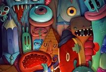 Characters (Creaturely Things) / Imaginative Creatures/Monsters (Cartoon, Comic, Illustrated, Vinyl Toy, etc.) • Pinterest.com/ScottMonaco • More at: QuietYell.com