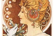 Nouveau and Deco Styled / Art Nouveau and Art Deco Styled/Inspired Work (Including Original Works & Related) • Pinterest.com/ScottMonaco • More at: QuietYell.com