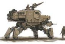 Vehicles (Walkers) / Manned Mechs & Multi-Legged Walker Vehicles • Pinterest.com/ScottMonaco • More at: QuietYell.com