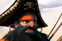 Characters (Pirates) / Pirates (Cartoon, Comic, Painted, & Stylized) • Pinterest.com/ScottMonaco • More at: QuietYell.com