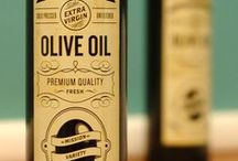 Branding (Oil & Vinegar) / Olive Oil & Vinegar Branding (Focus on Packaging Design) • Pinterest.com/ScottMonaco • More at: QuietYell.com