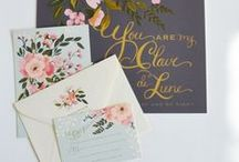 Stationary / Invitations, Thank Yous and other pretty stationary.