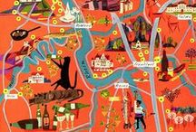 Genre (Maps) / Illustrated Maps (Stylized, Fantasy, Etc.) • Pinterest.com/ScottMonaco • More at: QuietYell.com