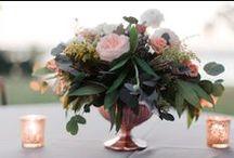 Bohemian Glam Wedding / Organic Style   Loose Floral Designs   Boho Glam Style   Rose Gold Wedding Decor   Cafe au Laite Dahlias   Posh Floral Designs