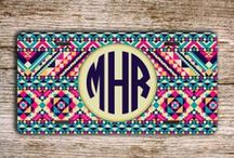 Monogrammed License Plates / Monogrammed license plates, personalized car tags.  Give your car a unique look by personalizing your front license plate with a monogram !