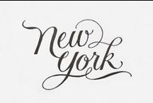 NEW YORK /  typographic art | places & spaces | lovely things