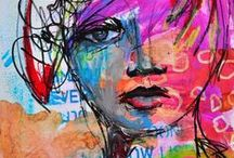 DINA WAKLEY / mixed media artist