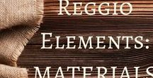 Reggio Elements: Materials / A board packed full of material ideas for your Reggio-Inspired classroom.