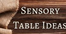 Sensory Table Ideas / Packed full of ideas for sensory table play including sand and water tables.
