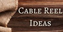 Cable Reel Ideas / Ideas for how to repurpose cable reels to use in the classroom!