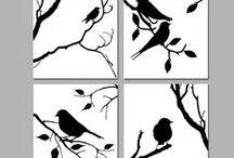 com passarinhos / A imagem dos pássaros  nos objetos,mobilias e artesanatos.