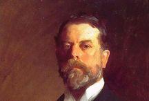 John Singer Sargent / John Singer Sargent (1856-1925) est un peintre américain né à Florence et mort à Londres. Cosmopolite, il a tiré de ses voyages dans les Deux Mondes plus de 2000 aquarelles. Portraitiste mondain, il laisse plus de 900 toiles. / by Christophe Calame