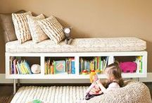 Book Nooks / Book nooks and storage ideas for children.