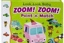 Interactive Board Books / Children like to grasp & lift, point & match, and turn & learn!
