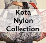 Kota Nylon Collection / Kota meaning city in Indonesian is inspired from busy city life. This collection is made of durable yet soft nylon coupled with our signature artistic flair are perfect on-the-go functional pieces.
